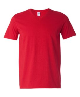 Tricou unisex bumbac softstyle, anchior mineca scurta, xxl american, GILDAN rosu