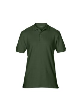 Tricou unisex, pique polo bumbac premium, xxl american, GILDAN USA verde forest