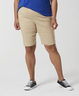 Pantalon marime mare, stretch femei bermude, marime xxxl american, BASIC EDITIONS crem