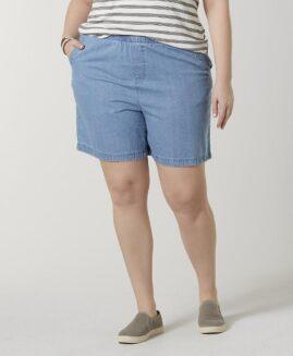 Pantalon jeans marime mare femei, talie elastica, xxl american, BASIC EDITIONS