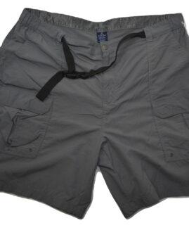 Pantalon scurt cargo, cu curea inclusa, marime mare americana 42,  CROFT BARROW
