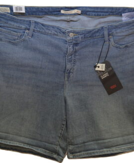 Pantalon jeans scurt elastic, marime mare americana xxxxl, LEVI'S STRAUSS CLASSIC SHORTS