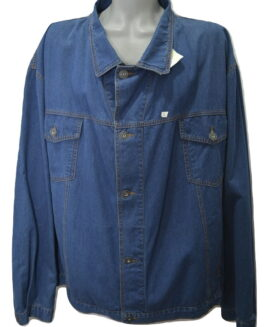 Geaca jeans marime mare, 7 xl american, KING SIZE blue - talie 180 cm