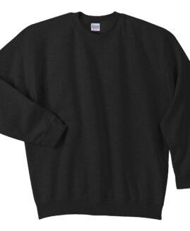 Tricou marime mare, bumbac mineca lunga, xxxxxl american, GILDAN negru – talie 180 cm