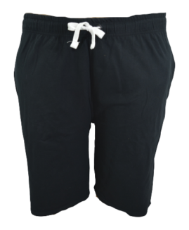Pantalon trening scurt-bermude, 5 xl american, PLUS MENSWEAR talie 120-160 cm NEGRU