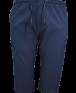 Pantalon subtire din in bermude cargo, xxxxl american, PLUS MENSWEAR talie 120-150 cm NAVY