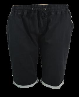 Pantalon bermude jeans cu elastan, 6xl american, PLUS MENSWEAR talie 140-210 cm NEGRU