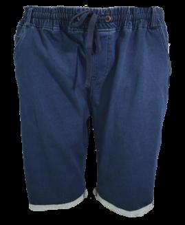 Pantalon bermude jeans cu elastan, 4 xl american, PLUS MENSWEAR talie 120-170 cm NAVY