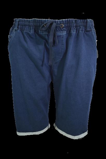Pantalon bermude jeans cu elastan, 6xl american, PLUS MENSWEAR talie 140-210 cm NAVY