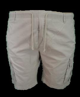 Pantalon bermude cargo cu elastan, 4 xl american, PLUS MENSWEAR talie 125 – 150 cm BEJ