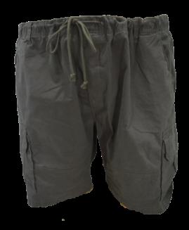 Pantalon bermude cargo cu elastan, 5 xl american, PLUS MENSWEAR talie 124 – 160 cm GRI INCHIS