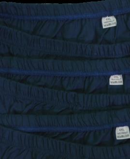 Set de 3 bucati, chilot barbati bumbac, marime mare 4 xl ALAMICUTZU, navy talie 90 – 160 cm