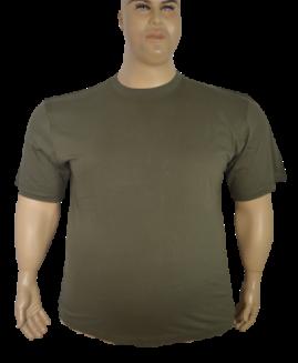 Tricou marime foarte mare, bumbac mineca scurta, 6 XL ALAMICUTZU kaki – talie 200 cm