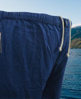 Pantalon scurt-bermude jeans, cu talie in elasctic si snur, marime mare 5 XL ALAMICUTZU talie 140 – 210 cm