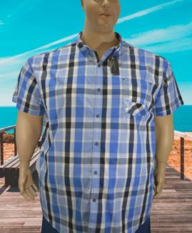 Camasa marime mare, casual mineca scurta, 6 xl american, SEAN JOHN  carouri talie 190 cm
