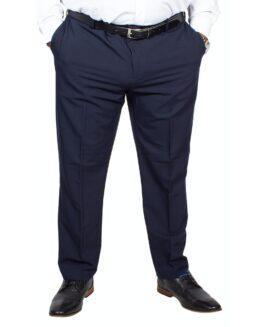 Pantalon elegant stofa subtire, marime mare 64 american, FARAH CLASSIC navy, talie 164 cm