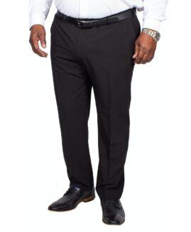 Pantalon elegant stofa subtire, marime mare 64 american, FARAH negru, talie 164 cm