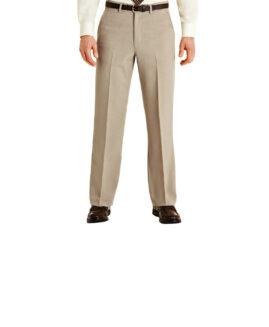 Pantalon elegant stofa subtire, marime mare 60 american, FARAH  maro deschis, talie 154 cm